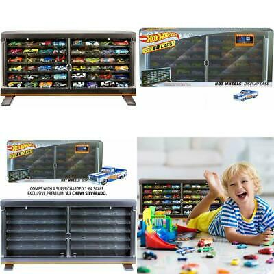 Hot Wheels Display Case Cars Scale Matchbox Diecast Cabinet Car Storage Pack