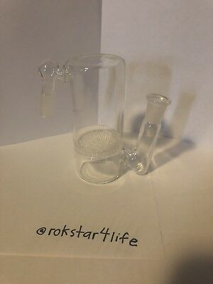 Single Fritted Disc Glass Ash Catcher 14mm Female (fits 14mm Male Bowl) Smooth _