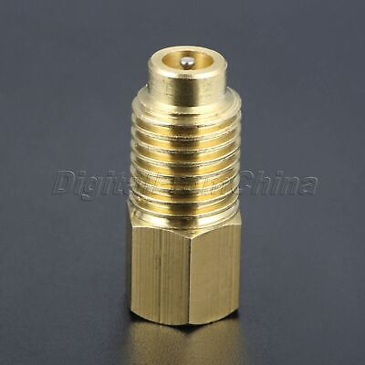 """Car R12 to R134A Refrigerant Tank Adapter Straight Valve Core Brass 1/4"""" Male"""