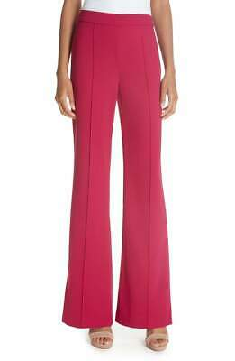 Alice + Olivia Women's Jalisa High Waist Crepe Flare Wide Leg Pants, Raspberry -