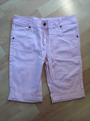 New Debenhams Red Herring Girls Pink Age 14 Years Cropped Jeans Shorts