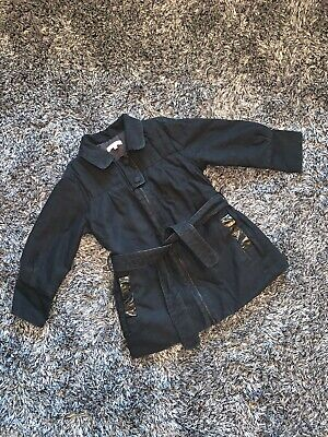 Very Good Condition - Chloe Girls Black Mac / Coat - 3 Years