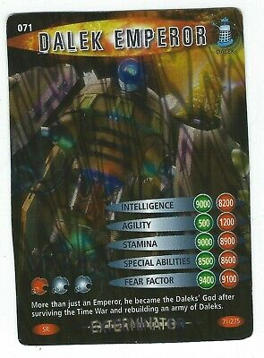 Doctor Who Battles In Time Card 071 Dalek Emperor Super Rare Good Condition