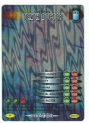 Doctor Who Battles In Time Card 425 Light Storm Tenth Doctor Super Rare Good
