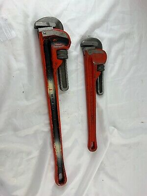 """Ridgid 24"""" Pipe Wrench Heavy Duty Made In Usa & Reed Rw18 Usa 18"""" Pipe Wrench"""