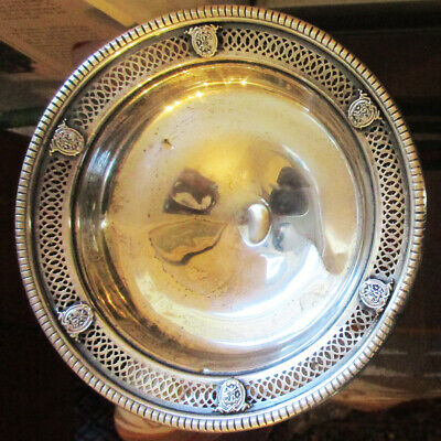 Antique 631 Sterling Silver Footed Decorative Candy Dish M Fred Hirsch?