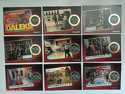 DR WHO AND THE DALEKS Complete 9 Card Gold Foiled Chase Set