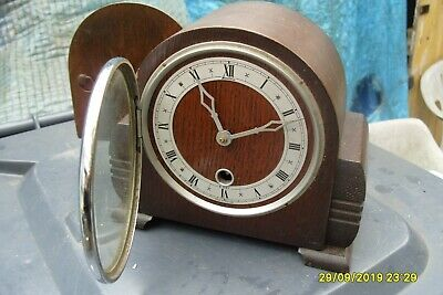Mantel  Clock Bentima Time Piece Clock Pendulum  And  Key