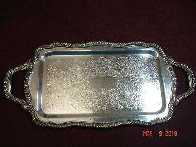Vintage FB Rogers Silver Co. 7885 Tray With Handles