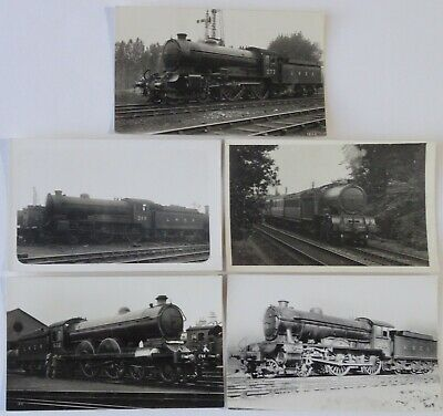 5 LNER Tender Engine Real Photo Postcards - London North Eastern Railway Lot 932
