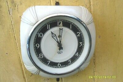 Vintage Clock Smith Electric Working Clock Glass Front