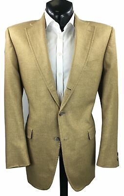 J. Press Tan Silk Blend Sport Coat | US 44L
