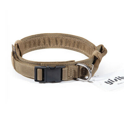 Tactical Dog Collar Military K9 Training Adjustable Heavy Duty Metal Buckle