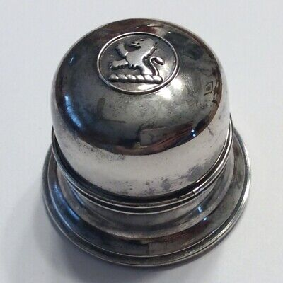 Vintage Birks Regency Plate Silverplated Ring Box Lion Black Felt Hinged