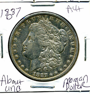 1887 O AU Morgan Dollar 100 Cent  About Uncirculated 90% Silver US $1 Coin #3097