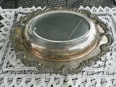 Antique hallmarked silver on copper covered serving bowl