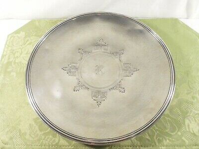 """""""ETRUSCAN ENGRAVED"""" (1913) by GORHAM ~ STERLING SILVER 11.50"""" CAKE TRAY"""
