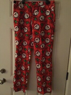 Suitmeister Christmas Holiday Pants Santa Suit Pants Ugly Sweater Sz L 42-44