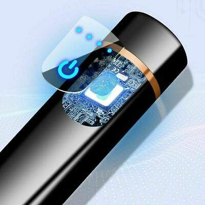 Smart Dual Arc Electric Lighter USB Rechargeable Plasma Windproof Cigar Pipe US