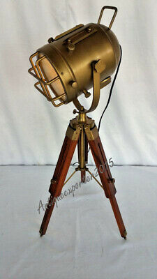 Halloween Nautical Antique Beautiful Look  Table Spot Light With  Tripod Stand