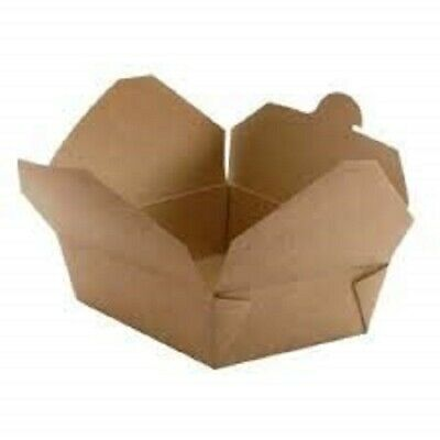 [50-300 PCS] Takeaway Cardboard Food Box, Paper Food to Go Containers
