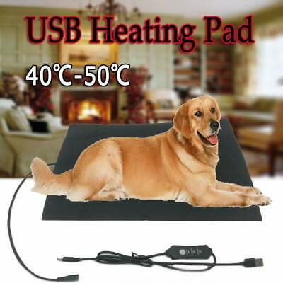 Adjustable Electric Heating Pad Heater Warmer USB Mat Bed Blanket Fr Pet Dog Cat