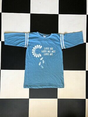 Vintage 1960s Artex Slogan Ringer T-shirt Single Stitch Made In USA Hippie Chic