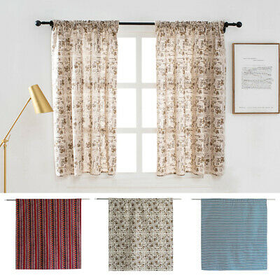 Window Curtain Floral Tulle Voile Drape Panel Valance Divider Balcony