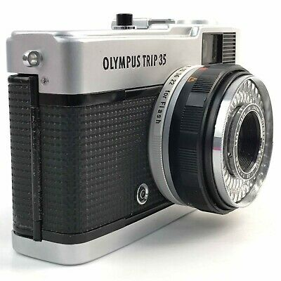 OLYMPUS Black Silver Trip 35 Classic Collectable Vintage Compact Camera TH361374