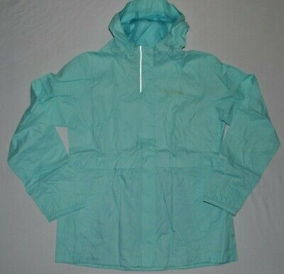 Columbia Girls Light Rain Jacket Windbreaker blue Large L 14/16