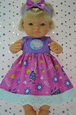 Dolls Clothes For 38cm Miniland Doll PLAIN/PATTERN DRESS~HEADBAND