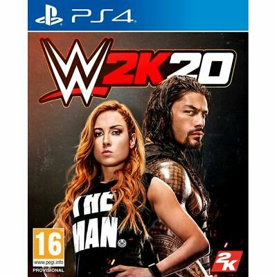 WWE 2K20 PS4 Brand New Sealed Official UK PAL BNIB PlayStation 4