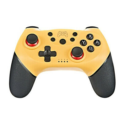 Yellow Bluetooth Wireless Gamepad Game Pad Controller for Nintendo Switch Pro
