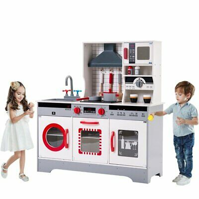 Large Kids Play Kitchen Children's Role Play Pretend Set Toy Boys & Girls Wooden
