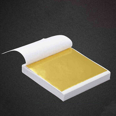 100Pcs 24K Gold Leaf Gilding Fram Sheet for Art Craft Decor Embossers Supply