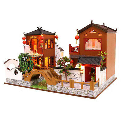 Wooden Toy Diy Dollhouse Miniature Dollhouse Handmade Doll House Furniture T9W7
