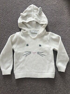 The Little White Company Bear Jumper, 3-6 Months