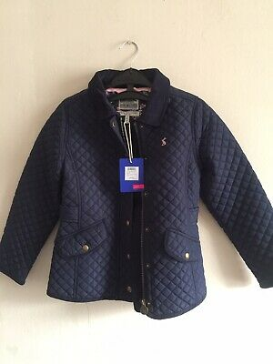 Joules Newdale Girls Quilted  Coat Jacket In French Navy Size 7-8Yrs