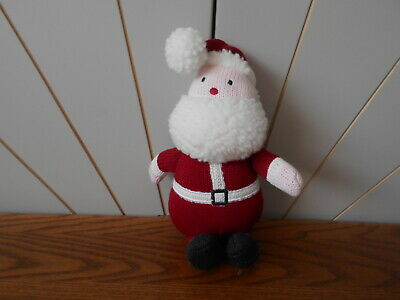 KNITTED FATHER CHRISTMAS / SANTA beautiful soft toy THE LITTLE WHITE COMPANY