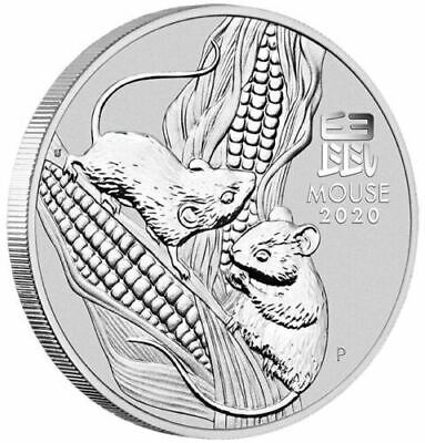 2020 Year of the Mouse 1oz .9999 Silver Coin -FIRST COIN IN  Lunar Series III