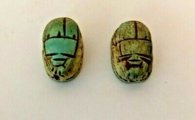 Ancient Egyptian Scarabs - Pair of modern copies possibly early 20th Century