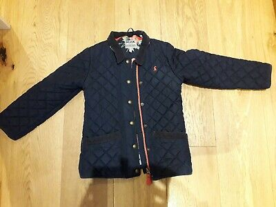 Joules Girls French Navy quilted jacket age 8