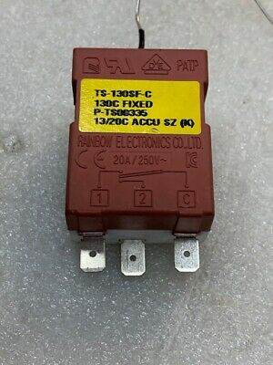 Rainbow Electronics TS-130SF-C Fixed Temperature (130deg C) Control Switch Used