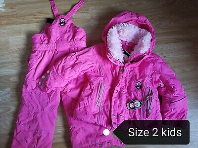Poivre Blanc pink Ski Jacket and Salopettes Age 2yrs