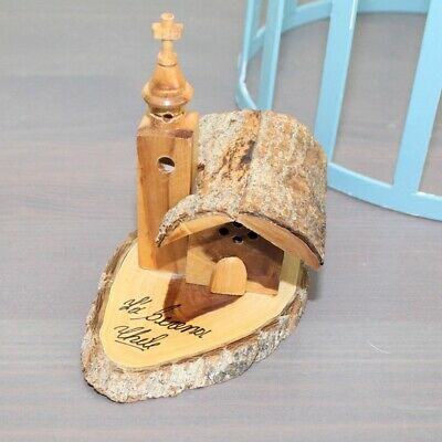 Hand Crafted Wood Church Small Decor Item