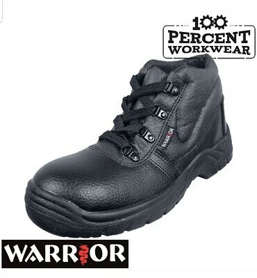 Pro Heavy Duty Mechanics Engineers Builders Trade Safety Work Boots Steel size 8