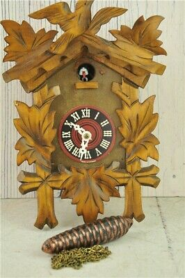 Vintage German Coo-Coo / Cuckoo Clock Wooden Roman Numerals Some Assembly Req