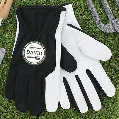 Personalised Garden Gloves Mens Large Gardening Gloves Leather Garden