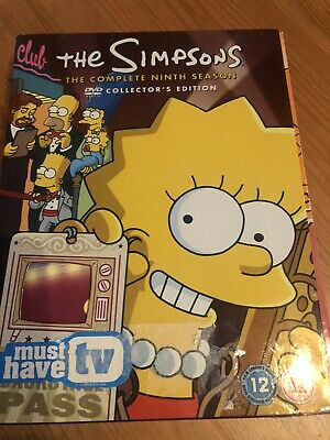The Simpsons The Complete Ninth Season DVD With Post Cards Still Sealed
