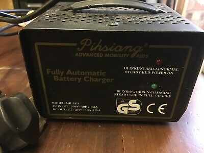 Pihsiang Fully Automatic Battery Charger Model MB24/3 AC 230V 0.8A Output 24V 3A
